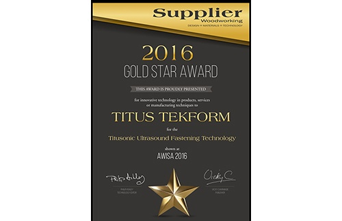 Titus Tekform wins Gold Star Award at AWISA